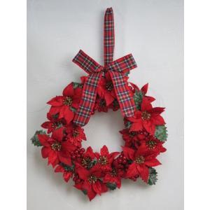 クリスマス  ( クリスマスリース AW12 )  リース ポインセチア