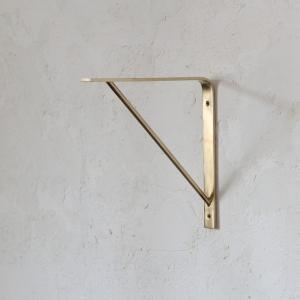 棚受け ブラス シェルフ ブラケット 真鍮 M 20cm 単品 tremolo
