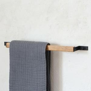 ホワイトオーク ツールバー収納 ハンガー  タオルハンガー (幅約38cm) 0012の写真