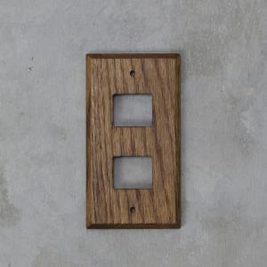 WOOD ウッド 木製 スイッチプレート スイッチカバー 2口 tremolo