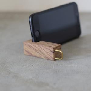 WOOD モバイルスタンド 携帯置き スマートフォン スタンド ミニ tremolo