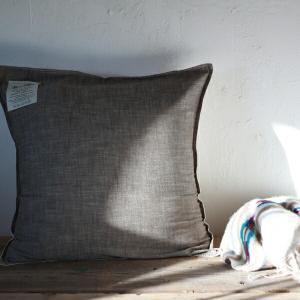 クッションカバー 45×45cm BasShu KH カーキ 日本製 (カバーのみ)|tremolo