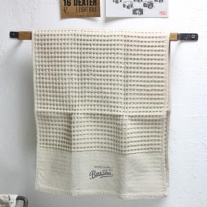 フェイスタオル コットン ワッフル ロゴ BasShu日本製|tremolo