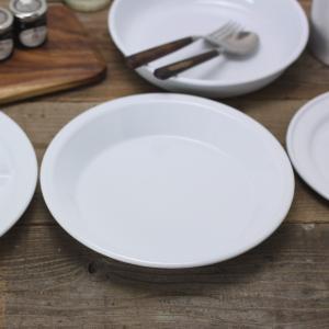 ラウンド パイプ プレート 琺瑯 丸皿 白|tremolo