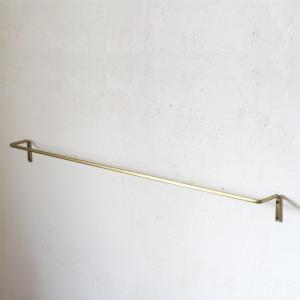 タオルハンガー タオル掛け 長い アイアン ルームバー L ゴールド GD (幅約75.5cm) インテリア tremolo