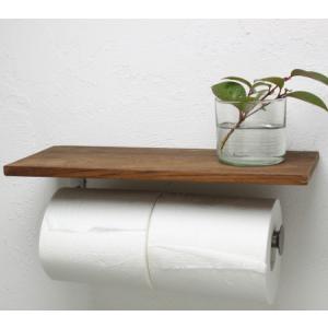 OUTLET トイレットペーパーホルダー L おしゃれな木製|tremolo