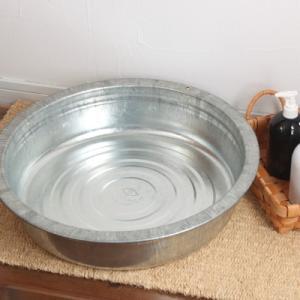 たらい トタン 洗い桶 ウォッシュタブ 日本製 6032|tremolo