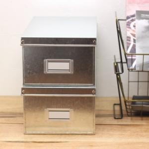 トタンのシューズボックス 収納箱 整理ケース 靴入れ 日本製|tremolo