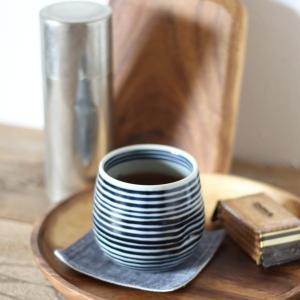 藍駒 ロックカップ 湯呑 磁器 波佐見焼|tremolo