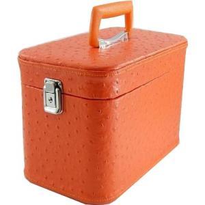 母の日のギフトに。化粧ポーチ,メイクアップボックス、オーストリア30cmオレンジお化粧入れ TVドラマで人気です、メークボックス。/化粧箱
