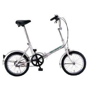 折りたたみ自転車 フォールディングサイクル 365-MIMUGO-/ミムゴ FIELD CHAMP フィールドチャンプ 16インチNo.72750 シルバー|trend-ex