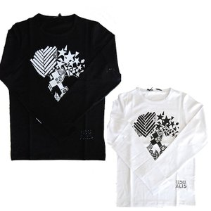 USUALIS ウザリス メンズ ロングTシャツ 6199 スカル(ロゴ)スワロスキー 2017AW|trend-exzakka