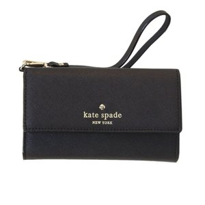 ケイトスペード Kate Spade 8ARU1099 001 Black ストラップ付 アイフォンケース (iphone6・6s専用) スマホバッグ|trend-exzakka
