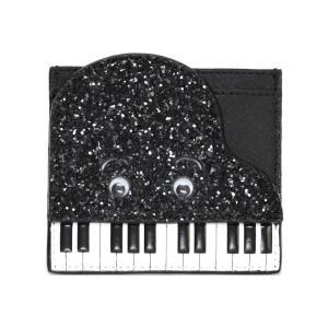 ケイトスペード Kate Spade PWRU5151 007 Black/White ピアノモチーフ スパンコールラメ カードケース 名刺入れ Ja|trend-exzakka