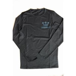 USUALIS メンズ ロングTシャツ U3372 ブラック 王冠 長袖 スワロ|trend-exzakka