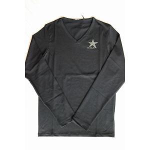 USUALIS メンズ ロングTシャツ U4316 ブラック 星 長袖 スワロ|trend-exzakka