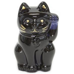 バカラ LUCKY CAT 表情が可愛い☆日本生まれのラッキーモチーフ☆「招き猫」(ミッドナイト) 2607787|trend-exzakka