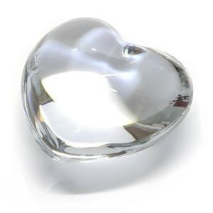 バカラ クリアクリスタル製ハート オーナメント  可愛いくてキュート☆コロンとしたフォルムのハート ペーパーウェイト 1761531 Puffed Hearts Clear|trend-exzakka
