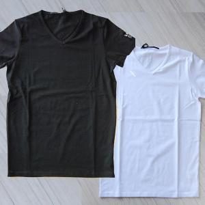 USUALIS ウザリス メンズ 半袖Tシャツ 5696 Vネック 袖 7 スワロフスキー 2017SS 春夏新作|trend-exzakka