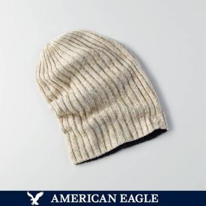 メール便 送料無料 期間限定特価セール アメリカンイーグル メンズ ニットキャップ ニット帽 帽子 リバーシブル  ビーニー オレンジ ブラック|trend-i
