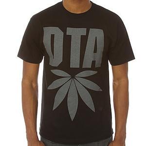 メール便 送料無料 DTA ディーティーエー メンズ 半袖  T シャツ Sサイズ ブラック マリファナ USA直輸入|trend-i