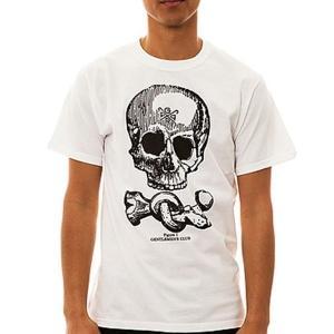 メール便 送料無料 G.P.P.R. ジーピーピーアール メンズ 半袖 T シャツ ホワイト スカル USA直輸入 M L サイズ|trend-i