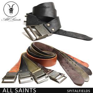 メール便 送料無料 Allsaints オールセインツ メンズ  レザー ベルト/革/ブラック/カーキ/ブラウン/キャメル/|trend-i
