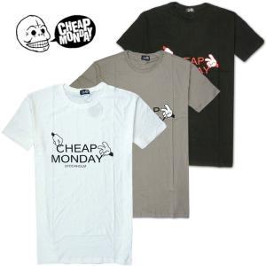 メール便 送料無料 Cheap Monday/チープマンデイ/メンズ/半袖/Tシャツ/ホワイト/ブラック/グレー/M L サイズ/ロゴ プリント|trend-i