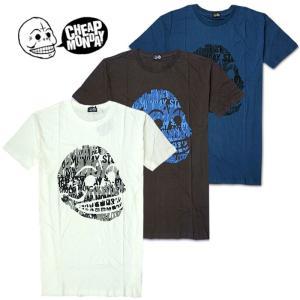 メール便 送料無料 Cheap Monday/チープマンデイ/メンズ/半袖/Tシャツ/スカル/ドクロ/M L サイズ ホワイト ネイビーブルー グレー|trend-i