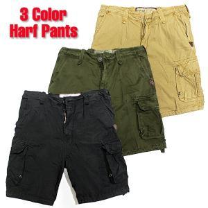メンズ カーゴ ハーフ パンツ 半ズボン ショート ショーツ ブラック  オリーブ カーキ ベージュ 30 32 34 インチ|trend-i