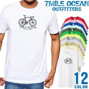 メール便 送料無料 7MILE OCEAN/メンズ/半袖/Tシャツ/無地/ボックスロゴ/プリント|trend-i