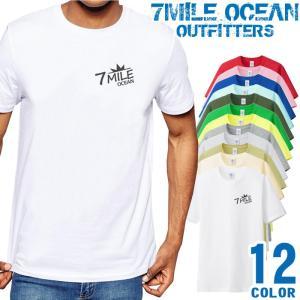 7MILE OCEAN Tシャツ メンズ 半袖 アメカジ ドクロ X スカル トライバル 大き目 大きいサイズ ビックサイズ 12色|trend-i