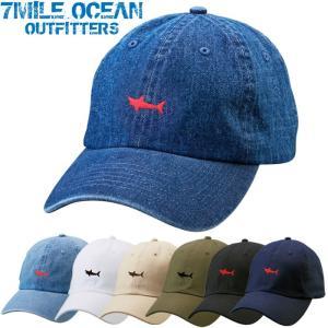 7MILE OCEAN メンズ キャップ 帽子 CAP ワンポイント ロゴ 刺繍 人気 ブランド アメカジ アウトドア ストリート デニム ホワイト ブラック|trend-i