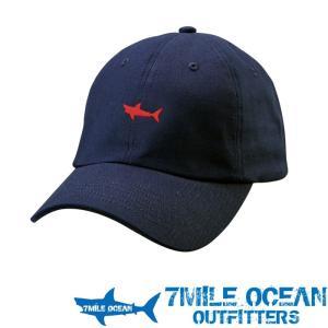 7MILE OCEAN メンズ キャップ 帽子 CAP ワンポイント ロゴ 刺繍 人気 ブランド アメカジ アウトドア ストリート ネイビー 紺|trend-i