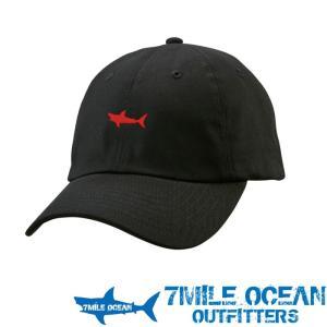 7MILE OCEAN メンズ キャップ 帽子 CAP ワンポイント ロゴ 刺繍 人気 ブランド アメカジ アウトドア ストリート ブラック 黒|trend-i