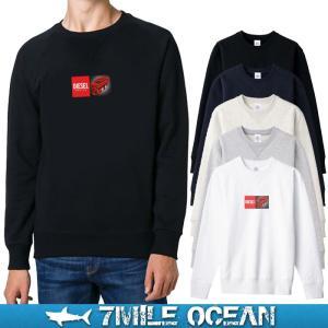 7MILE OCEAN セール価格 メンズ 長袖 トレーナー スウェット ディーゼル エンジン 人気 ブランド アメカジ アウトドア パロディー おもしろ おしゃれ 裏起毛|trend-i