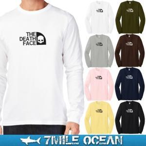 メール便 送料無料 7MILE OCEAN メンズ 長袖 Tシャツ ロンT ロングTシャツ アウトドア アメカジ 無地 ボックスロゴ デスフェ−ス おもしろ ネタ|trend-i