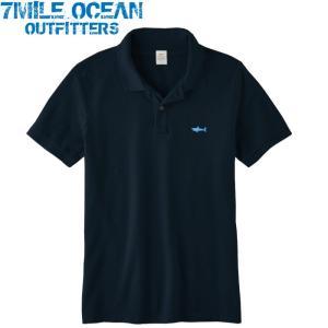 7MILE OCEAN メンズ 半袖 ポロシャツ 無地 ワンポイント 刺繍 人気ブランド アメカジ 白 ホワイト 鹿の子 ビッグサイズ  大きいサイズ 夏物 クールビズ|trend-i