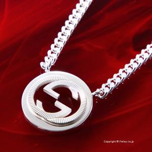 グッチ ネックレス GUCCI Interlocking Guilloche G シルバーペンダント 246492 J8400 8106|trend-watch