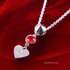 グッチ ネックレス GUCCI Trademark Heart シルバーペンダント トパーズ 325871 O8241 8166|trend-watch