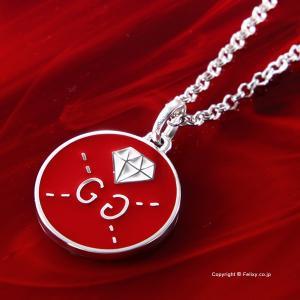 グッチ ネックレス GUCCI Ghost Diamond Motif シルバーペンダント 459358 J89L0 8519|trend-watch