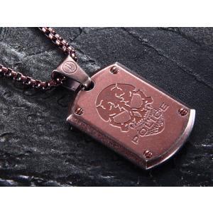 ポリス ネックレス POLICE ステンレス メンズ ネックレス ペンダント 25607PSEBR PROWLER|trend-watch
