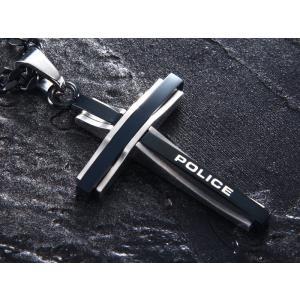 ポリス ネックレス POLICE ステンレス メンズ クロス ネックレス ペンダント 25695PSB01 GLAZE|trend-watch