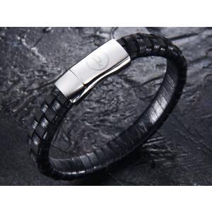 ポリス ブレスレット POLICE レザー ブレスレット 25689BLB01 CONNECTOR|trend-watch