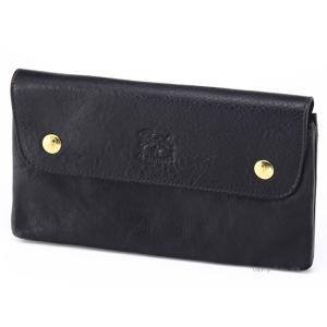イルビゾンテ 財布 C0937P153 ブラック IL BISONTE 小銭入れ付き長財布|trend-watch