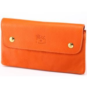 イルビゾンテ 財布 C0937P166 オレンジ IL BISONTE 小銭入れ付き長財布|trend-watch