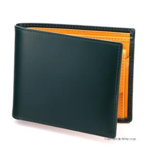 エッティンガー ETTINGER メンズ財布 小銭入れ付き二つ折り BH141JR GREEN|trend-watch
