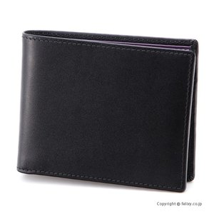 エッティンガー ETTINGER メンズ財布 小銭入れ付き二つ折り ST141JR BLACK×PURPLE|trend-watch
