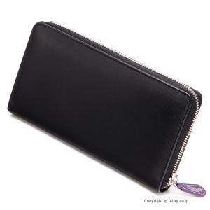 エッティンガー ETTINGER メンズ財布 ラウンドファスナー長財布 ST2051EJR BLACK×PURPLE|trend-watch