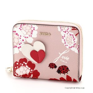 フルラ FURLA ラウンドファスナー財布 AFRODITE S ZIP AROUND 942713 PZ04 TWI TONI WINTER ROSE|trend-watch